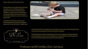 Online Webpage Websites K9 Fertility Clinic