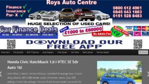 Online Webpage Websites Roy Autos