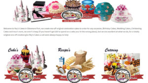 Online Web Page Websites Roys Cakes