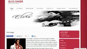 Online Webpage Websites elvis singer