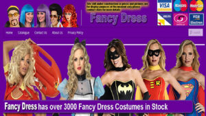 Online Webpage Websites fancy dress