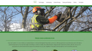 Online Webpage Websites trees and gardens r us