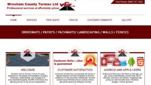 Online Webpage Websites wrexham county tarmac ltd
